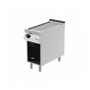 single, electric grill, on open cabinet - desco