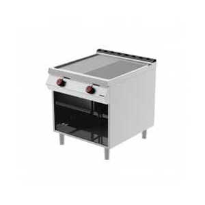 gas grill on open cabinet - desco